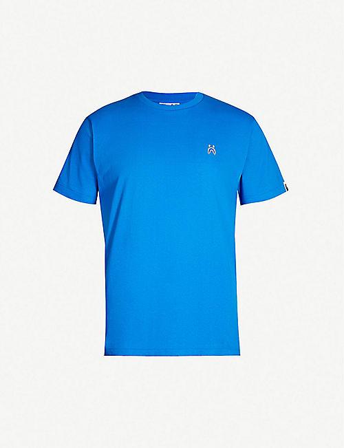 aa75962f8a6 A BATHING APE WGM and shark-print cotton-jersey T-shirt