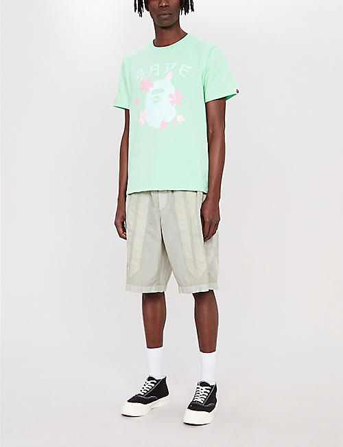 A BATHING APE Sakura Ape cotton-jersey T-shirt