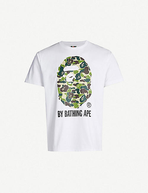 9eea0a70def8 A BATHING APE Camouflage-print cotton-jersey T-shirt