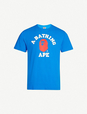 A BATHING APE College crewneck cotton-jersey T-shirt