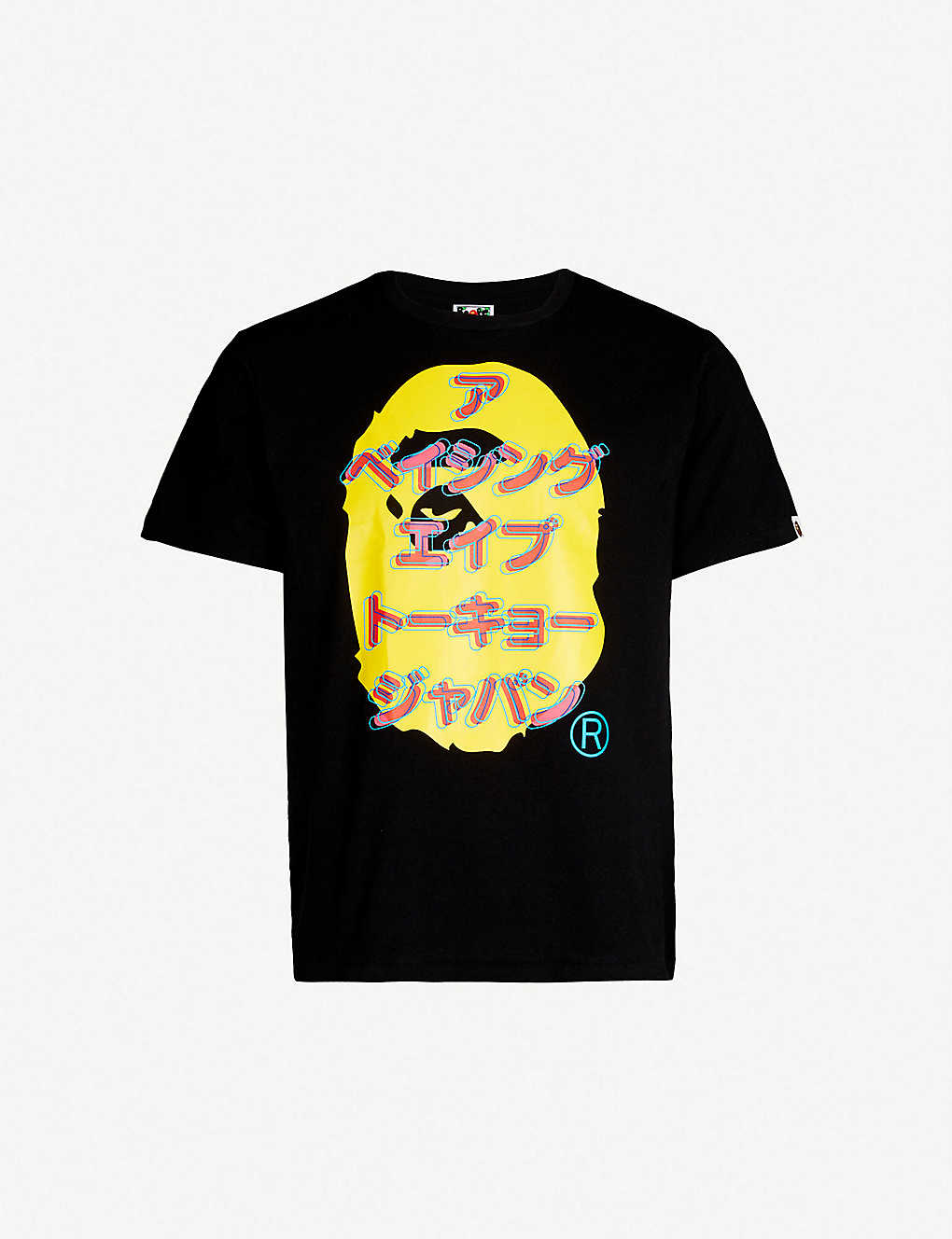 17c86814 A BATHING APE - Katakana ape-print cotton-jersey T-shirt | Selfridges.com