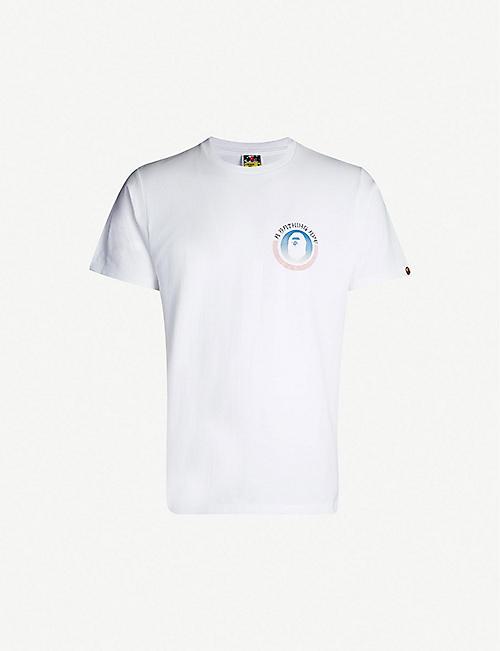 3b3a4a6acbe7 A BATHING APE Logo-print cotton-jersey T-shirt