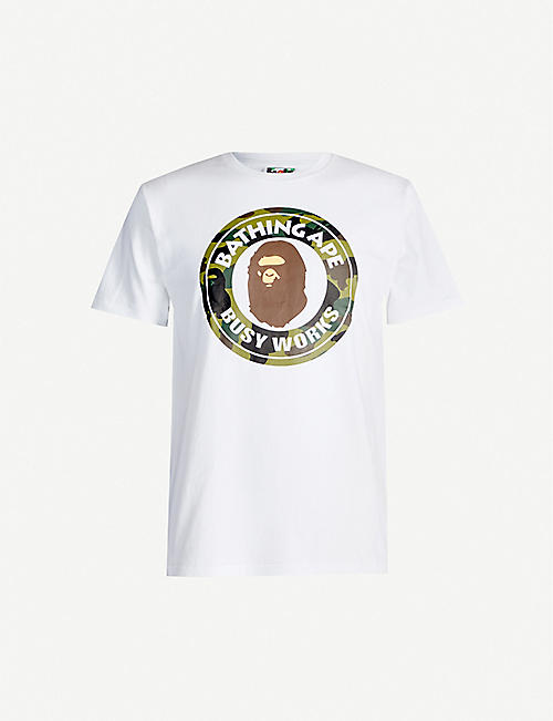 A BATHING APE 1st Camo Busy Works cotton-jersey T-shirt