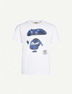 A BATHING APE Logo-print cotton-jersey T-shirt