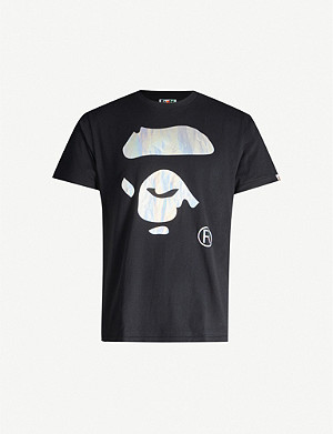 A BATHING APE Graphic-print cotton-jersey T-shirt