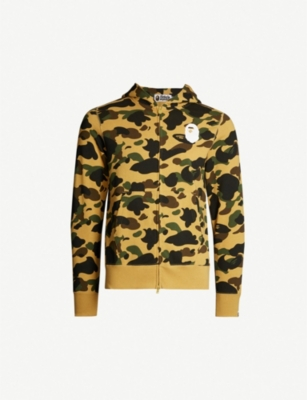 A BATHING APE Camouflage-print cotton hoody
