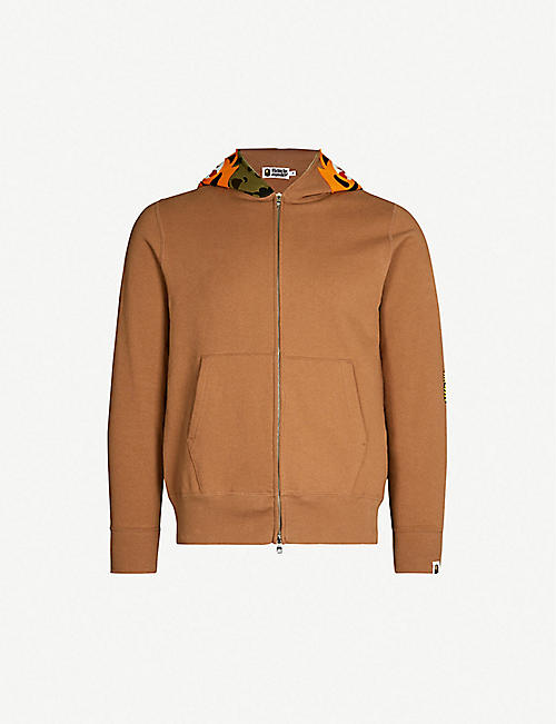 a1d6f00dd48e A BATHING APE Tiger-print cotton-jersey hoody