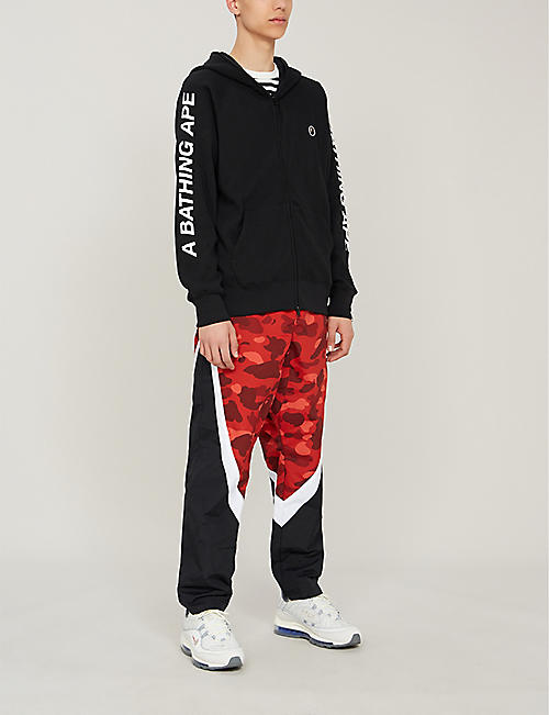 154d4ffd28f36 A BATHING APE Zip-up thermal stretch-jersey hoody · Quick Shop