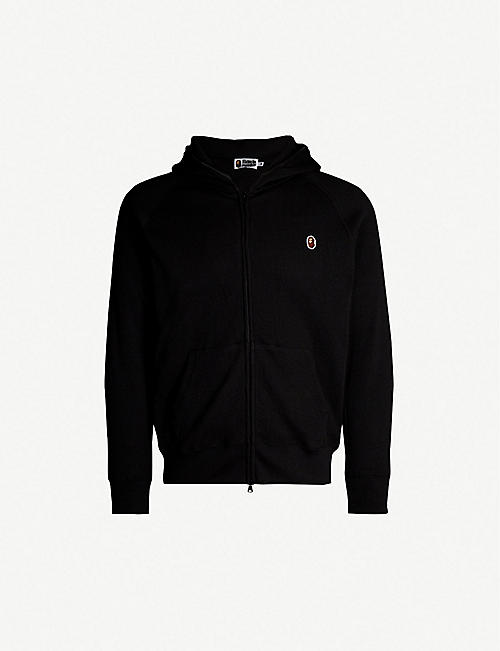 402c9c5473f A BATHING APE Zip-up thermal stretch-jersey hoody