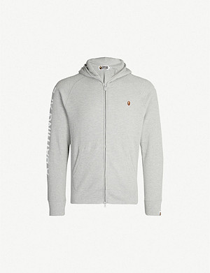 A BATHING APE Zip-up thermal stretch-jersey hoody