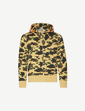 A BATHING APE Tiger camouflage-print cotton-jersey hoody