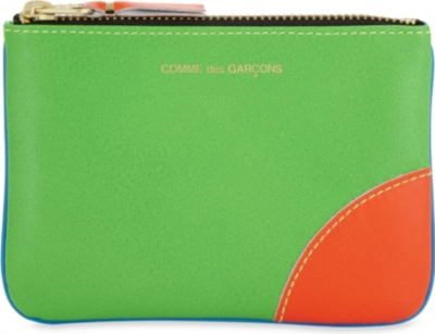 COMME POCKET Super fluorescent small leather pouch