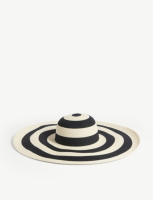 EUGENIA KIM Sunny striped straw hat