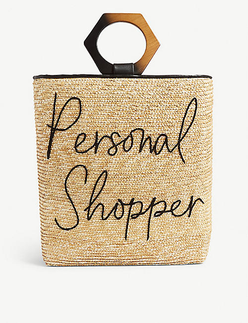 EUGENIA KIM Margaux straw personal shopper bag