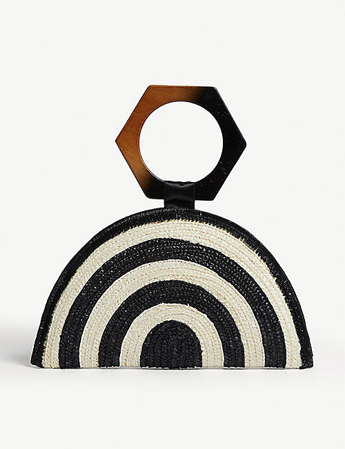 EUGENIA KIM Luna straw clutch bag