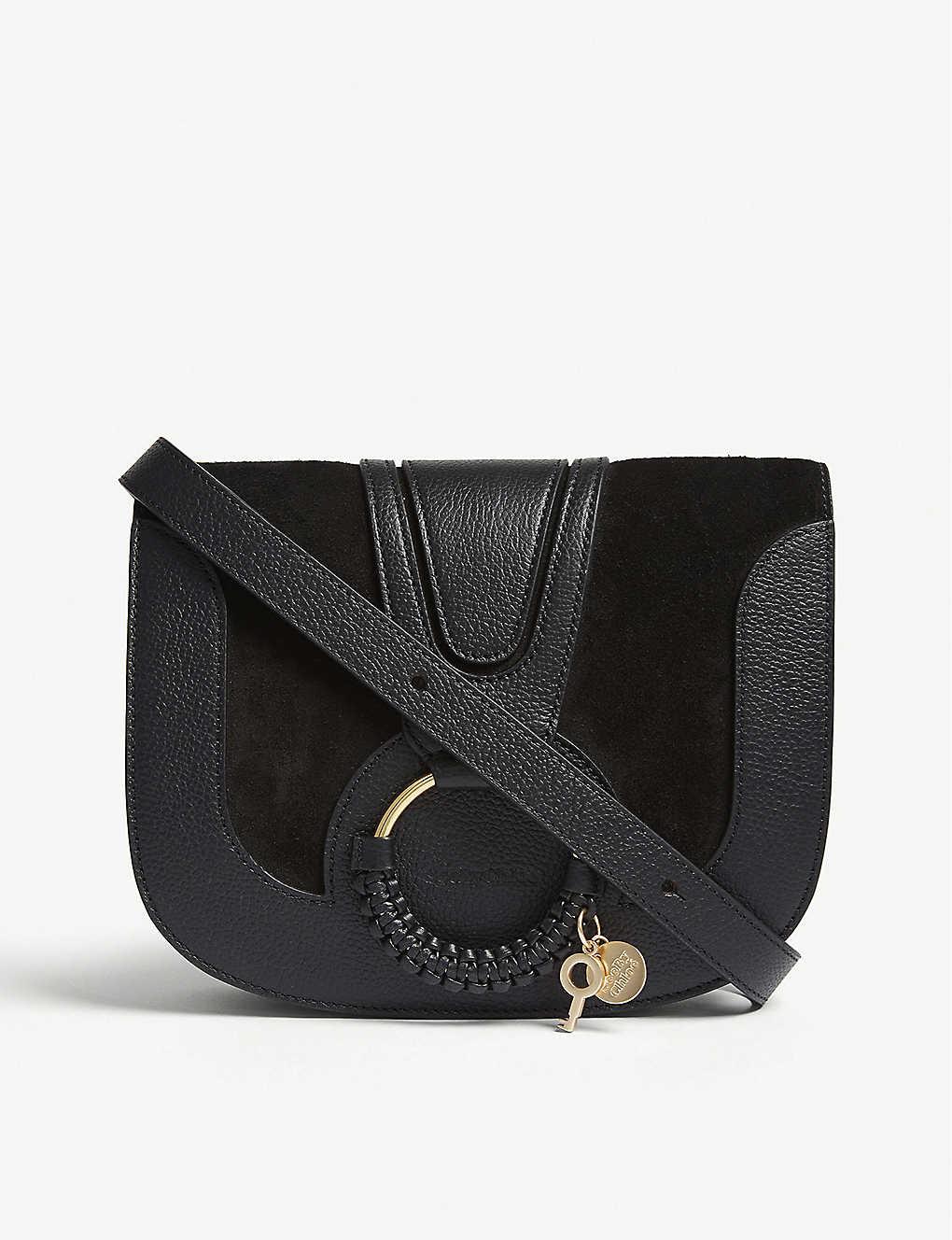 52b2c358022 SEE BY CHLOE - Hoop leather saddle bag | Selfridges.com