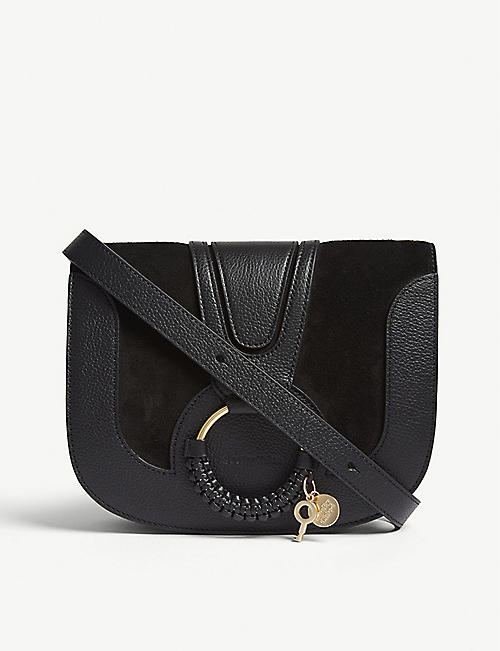 SEE BY CHLOE: Hoop leather saddle bag