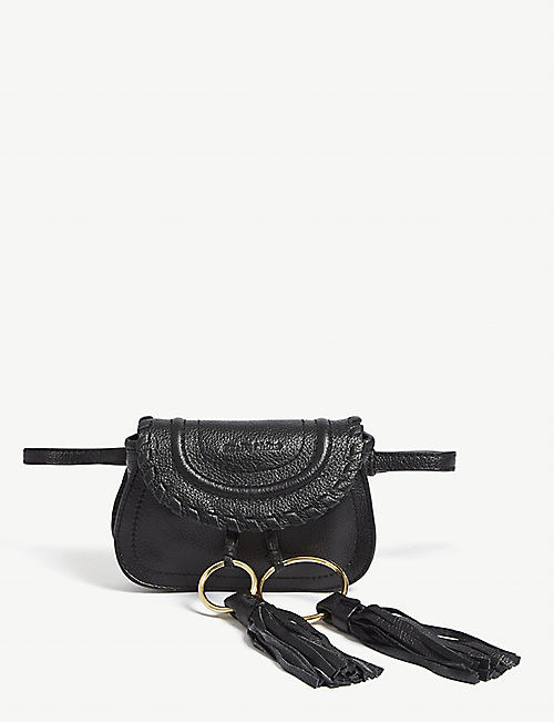 1f1df155c65 SEE BY CHLOE Mini Andy grained leather saddle bag