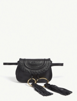 SEE BY CHLOE Mini Andy grained leather saddle bag