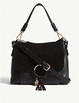 SEE BY CHLOE: Suede front leather shoulder bag