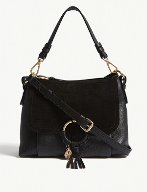 SEE BY CHLOE Suede front leather shoulder bag