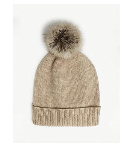 HELEN MOORE - Pom-pom cashmere beanie hat  a5570c74009