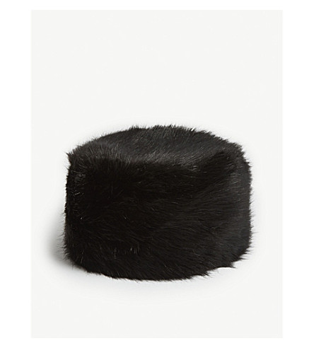 71ecb78d HELEN MOORE - Faux-fur pillbox hat | Selfridges.com