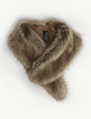 HELEN MOORE Faux-fur collar
