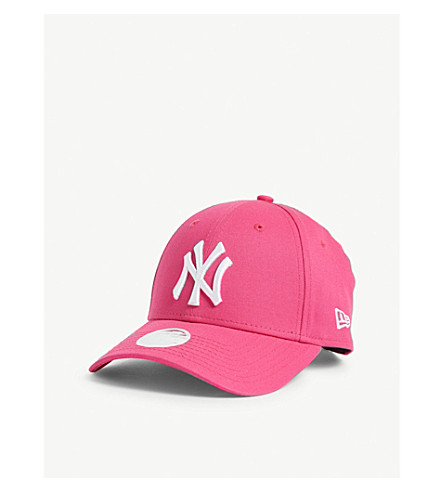New Era New York Yankees 9forty Baseball Cap In Pink/optic White