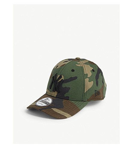 New Era New York Yankees 9forty Baseball Cap In Woodland Camo
