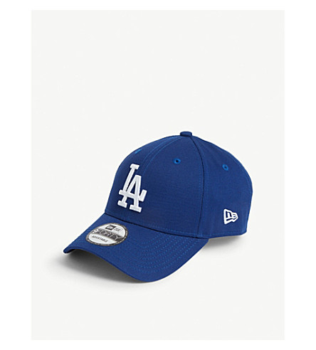 New Era 9forty Los Angeles Dodgers Cotton Cap In Light Royal/optic White