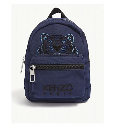 Navy Blue Tiger Print Mini Backpack