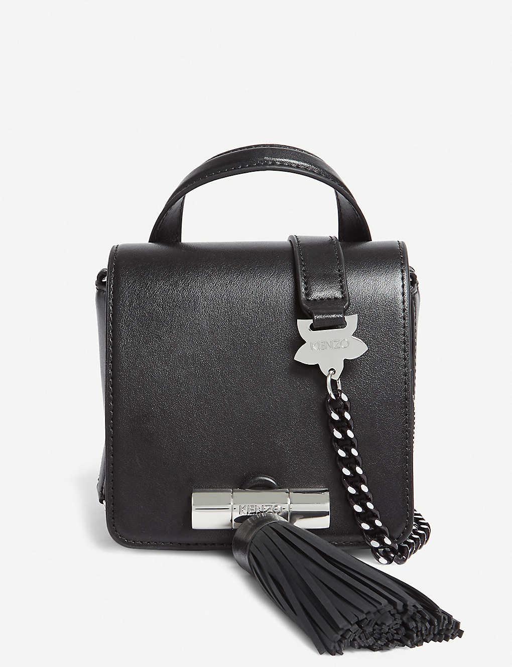 996f53fc05 KENZO - Sailor mini tassel leather shoulder bag   Selfridges.com