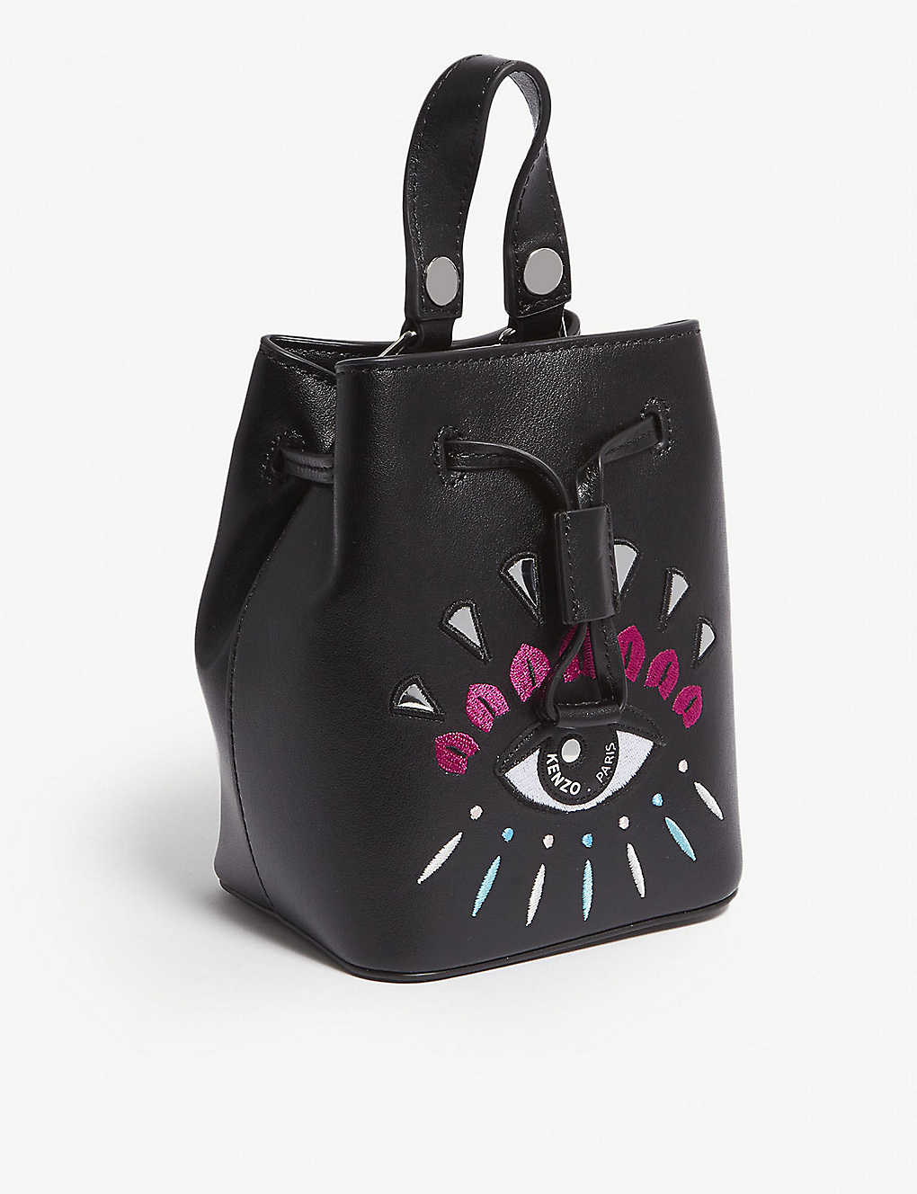 83a8b85f26 KENZO - Metallic eye mini leather bucket bag | Selfridges.com