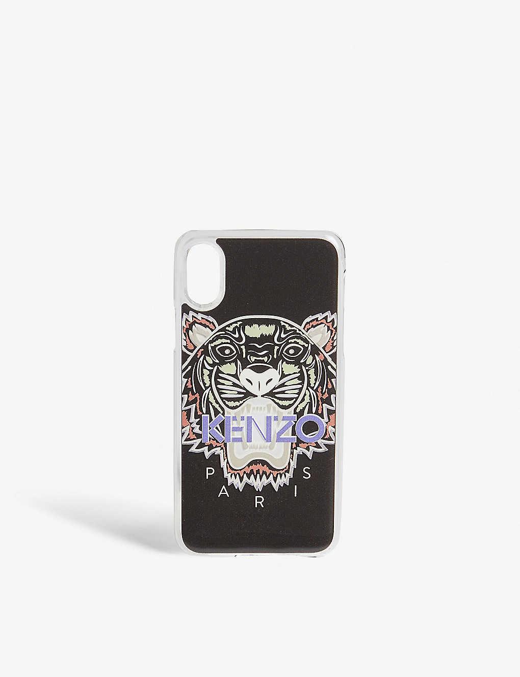 c45ef1b986 KENZO - Tiger motif silicone iPhone X case | Selfridges.com