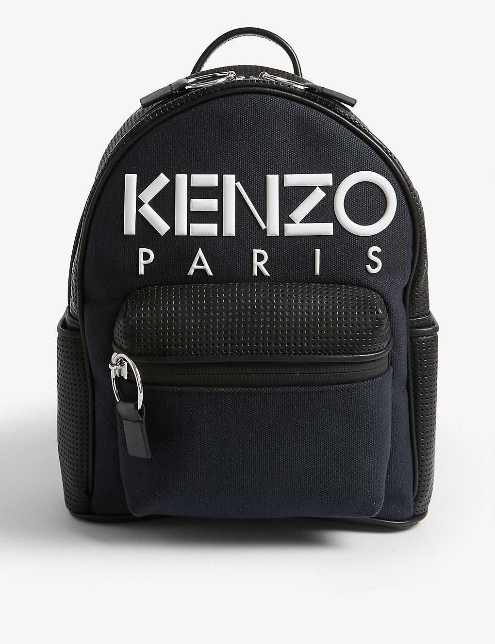 7a78a0b77 KENZO - Logo mesh leather and canvas backpack | Selfridges.com