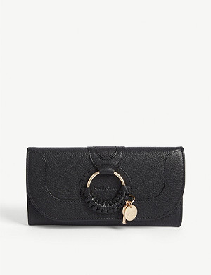 SEE BY CHLOE Hana grained long leather wallet