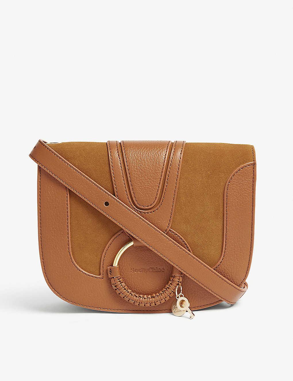 b218dc11387 SEE BY CHLOE - Hana medium leather saddle bag | Selfridges.com