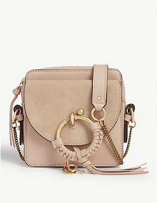SEE BY CHLOE: Joan suede and leather cross-body bag