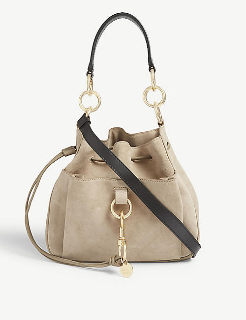 98845efd54 SEE BY CHLOE Tony suede shoulder bag