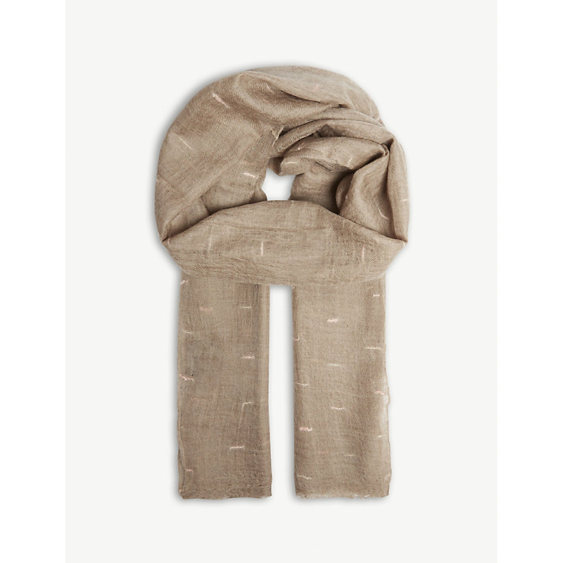 JANE CARR The Loom Wrap Cashmere Scarf in Hare