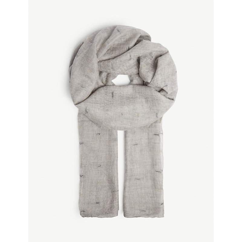 JANE CARR The Loom Wrap Cashmere Scarf in Pearl