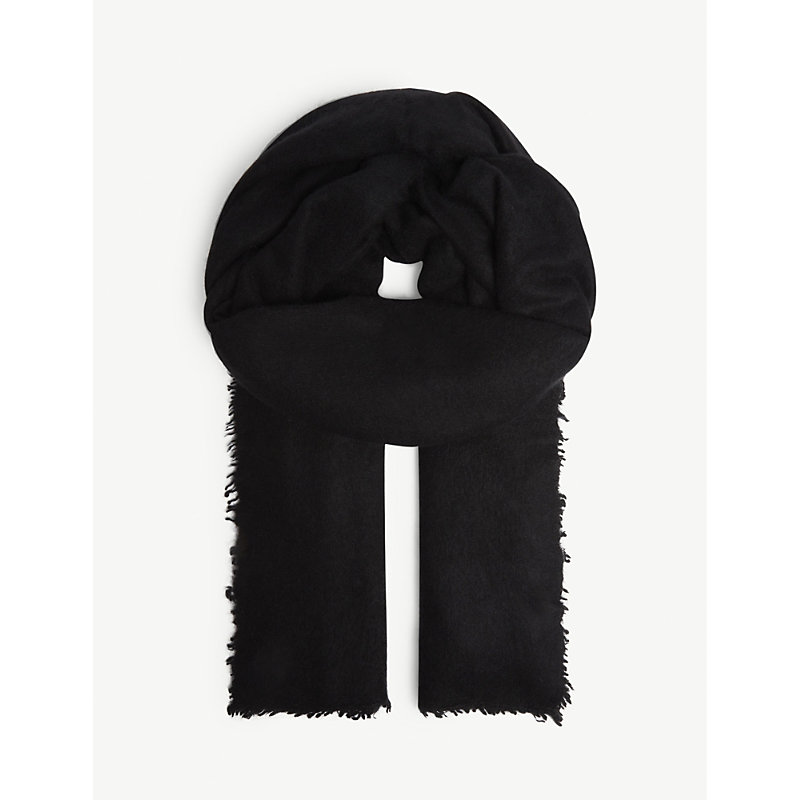 JANE CARR The Luxe Cashmere Scarf in Black