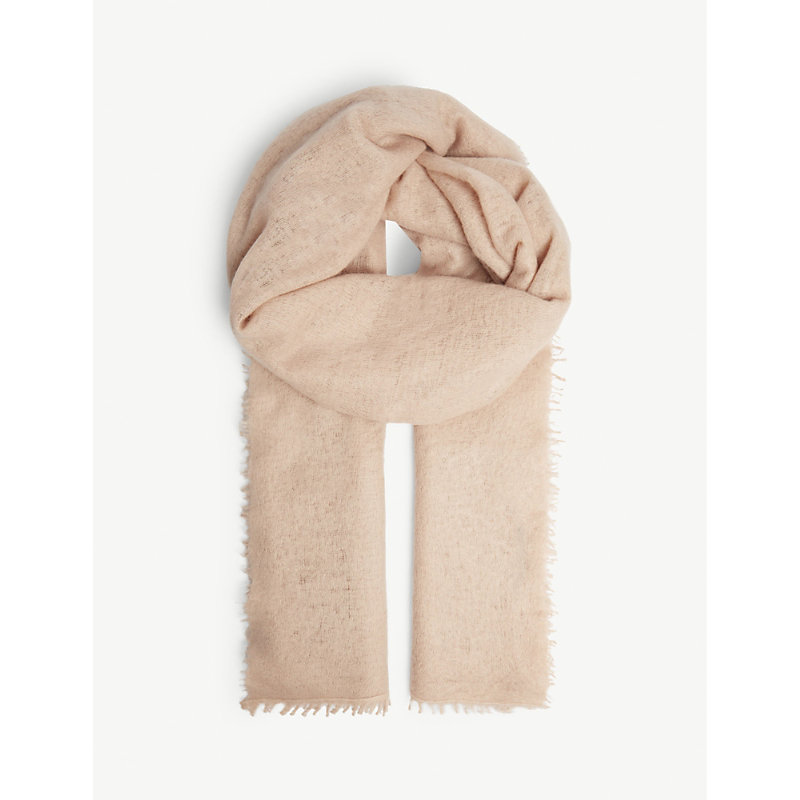 JANE CARR The Luxe Cashmere Scarf in Blush