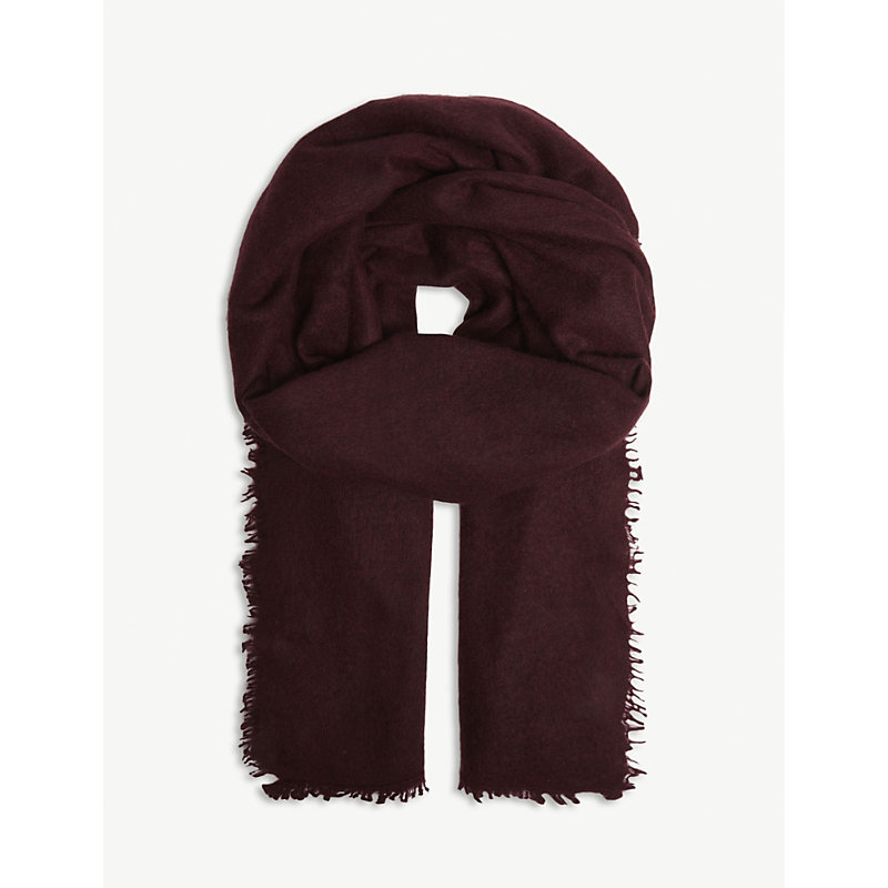 JANE CARR The Luxe Cashmere Scarf in Plum