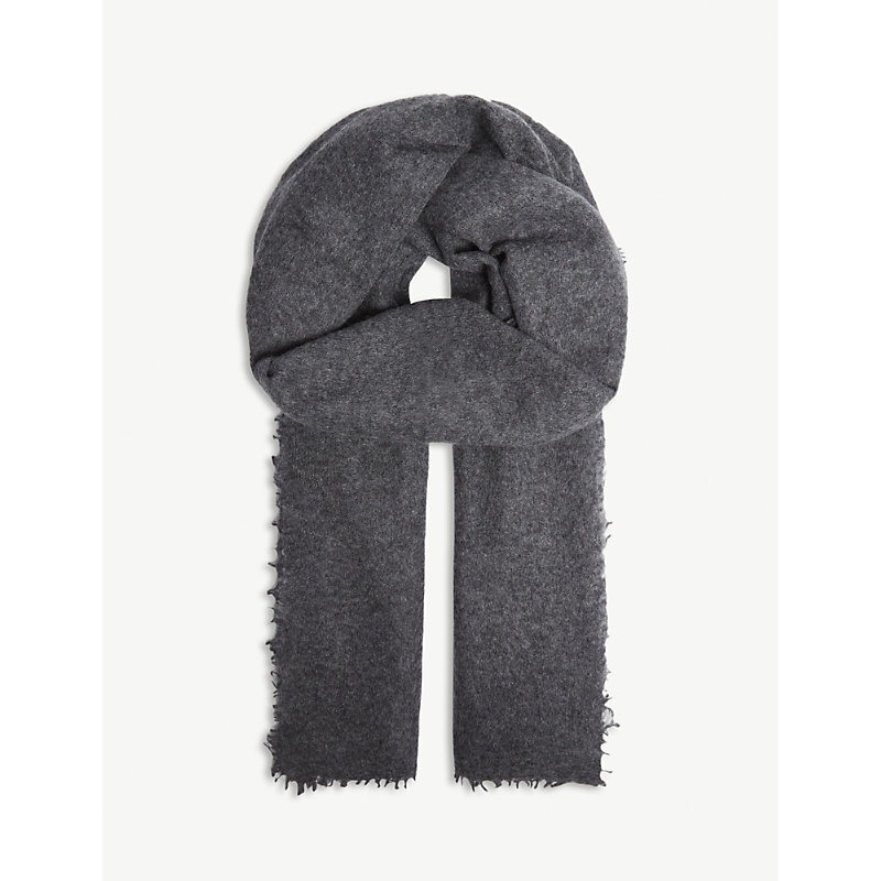 JANE CARR The Luxe Cashmere Scarf in Slate