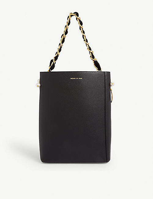 MOTHER OF PEARL Margot pony hair and leather bucket bag