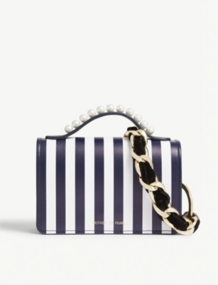 MOTHER OF PEARL Jude striped leather shoulder bag