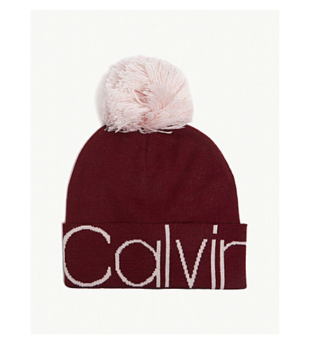 df387140a04 ... CALVIN KLEIN JEANS Wool-blend pom-pom beanie (Red+rock. PreviousNext