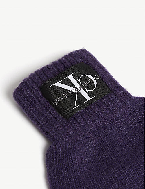 CALVIN KLEIN JEANS Basic wool and cashmere knitted gloves